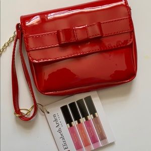 💋Elizabeth Arden Lip Gloss Gift Set Clutch Bag